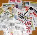 image pile of clipped coupons